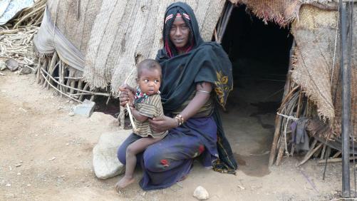 Femme et enfant Afar
